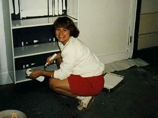 1994 - Grace - Painting lab at Panther Creek