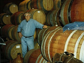 1994 - Ken standing among the Carlton barrels