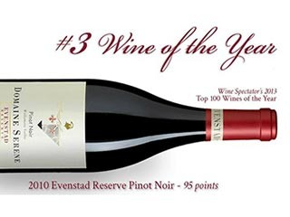 2013 - Evenstad Reserve® named #­3 wine of the year by Wine Spectator